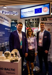 Ortho Baltic Implants team at Arab Health 2018